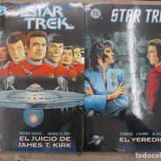 Cómics: COLECCION COMPLETA STAR TREK - 2 TOMOS - EL JUICIO JAMES KIRK Y EL VEREDICTO - WORLD COMICS - DC . Lote 146266566