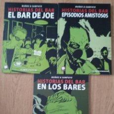 Cómics: HISTORIAS DEL BAR - 1 AL 3 (COLECCIÓN COMPLETA) - SAMPAYO Y MUÑOZ - PLANETA - COMIC ARGENTINO. Lote 146496890