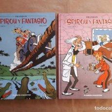 Cómics: SPIROU Y FANTASIO VOLUMEN 1 Y 2 - FRANQUIN - INTEGRAL PLANETA - 1946 - 1949 - 1950 - 1952 - JMV. Lote 148813334