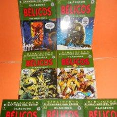 Cómics: CLASICOS BELICOS. BIBLIOTECA GRANDES DEL COMIC. COMPLETA. SIETE TOMOS. BUEN ESTADO.. Lote 149671486