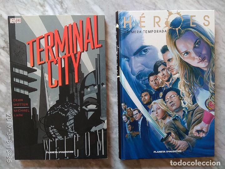 LOTE 2 CÓMICS: HÉROES, PRIMERA TEMPORADA + TERMINAL CITY (LÍNEA VERTIGO) (Tebeos y Comics - Planeta)
