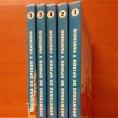 Cómics: LAS AVENTURAS DE SPIROU Y FANTASIO 1 AL 5 COMPLETA. 4 TOMOS BUENOS Y EL 5 VA DE REGALO.. Lote 156286814