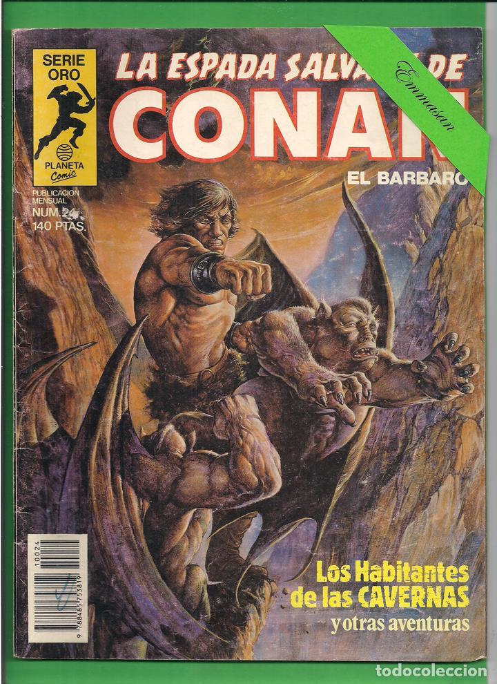 LA ESPADA SALVAJE DE CONAN EL BÁRBARO - Nº 24 - LOS HABITANTES DE LAS CAVERNAS - PLANETA. (Tebeos y Comics - Planeta)
