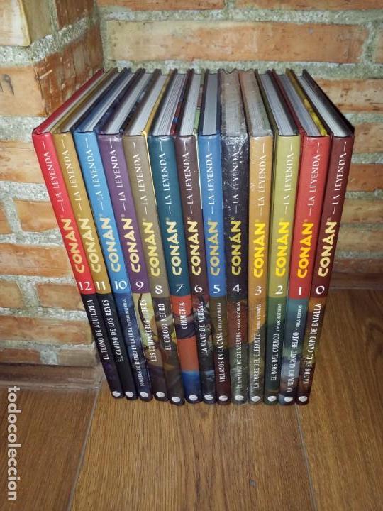 CONAN LA LEYENDA COMPLETA 13 TOMOS IMPECABLES PLANETA DEL 00 AL 12 (Tebeos y Comics - Planeta)