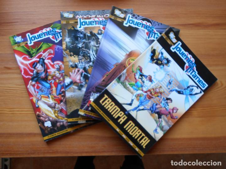 JOVENES TITANES VOLUMEN 3 SEMI-COMPLETA - Nº 1, 2, 3 Y 4 - 4 TOMOS - DC - PLANETA (GD) (Tebeos y Comics - Planeta)