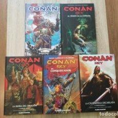 Cómics: CONAN REY COMPLETA 5 TOMOS PLANETA AGOTADOS Y DESCATALOGADOS IMPECABLES. Lote 176446600
