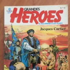 Cómics: GRANDES HEROES. EL DESCUBRIMIENTO DEL MUNDO. Nº 10 JACQUES CARTIER. PLANETA COMIC, 1981. COLOR.. Lote 169078596
