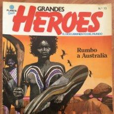 Cómics: GRANDES HEROES. EL DESCUBRIMIENTO DEL MUNDO. Nº 13 RUMBO A AUSTRALIA PLANETA, 1981 COMIC. Lote 169182052