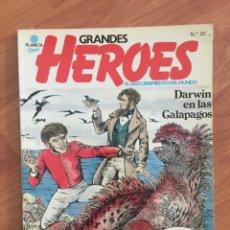 Cómics: GRANDES HEROES. EL DESCUBRIMIENTO DEL MUNDO. Nº 20 DARWIN EN LAS GALAPAGOS PLANETA, 1981. Lote 169182316