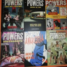 Cómics: POWERS. SEIS PRIMEROS VOLUMENES . Nº 1 AL 30 DE LA COLECCION. MUY BUEN ESTADO.. Lote 171401314