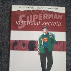 Cómics: SUPERMAN IDENTIDAD SECRETA - KURT BUSIEK & STUART IMMONEN D25. Lote 171609455