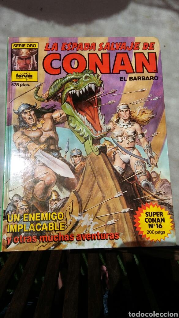 Cómics: 16 tomos la espada salvaje de Conan el bárbaro serie oro planeta 1 ediccion coleccion completa - Foto 2 - 174965828