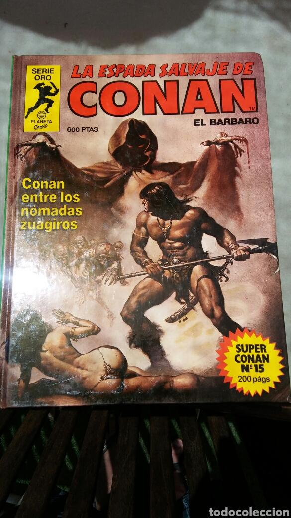 Cómics: 16 tomos la espada salvaje de Conan el bárbaro serie oro planeta 1 ediccion coleccion completa - Foto 3 - 174965828