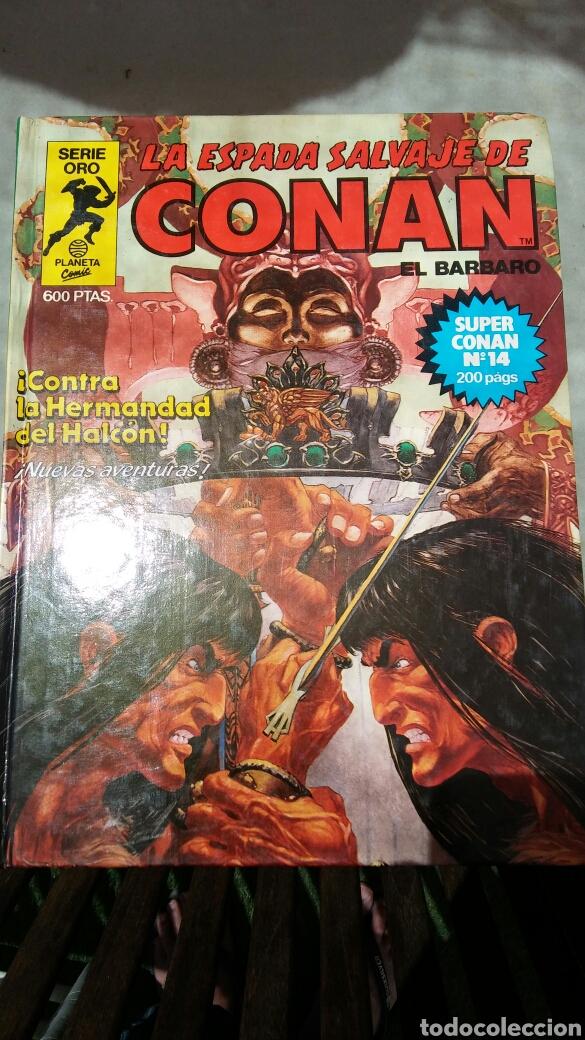 Cómics: 16 tomos la espada salvaje de Conan el bárbaro serie oro planeta 1 ediccion coleccion completa - Foto 4 - 174965828