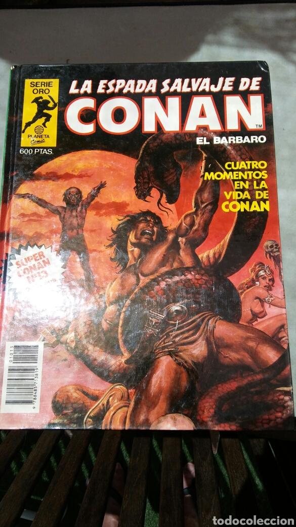 Cómics: 16 tomos la espada salvaje de Conan el bárbaro serie oro planeta 1 ediccion coleccion completa - Foto 5 - 174965828