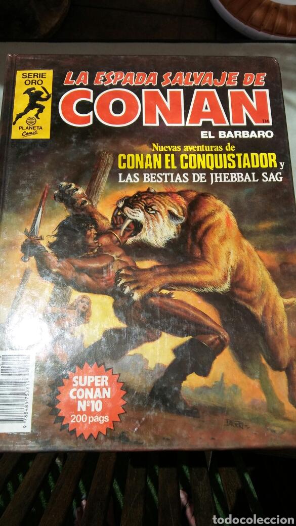 Cómics: 16 tomos la espada salvaje de Conan el bárbaro serie oro planeta 1 ediccion coleccion completa - Foto 8 - 174965828