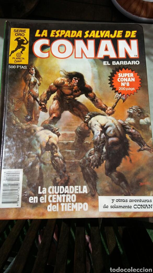 Cómics: 16 tomos la espada salvaje de Conan el bárbaro serie oro planeta 1 ediccion coleccion completa - Foto 10 - 174965828
