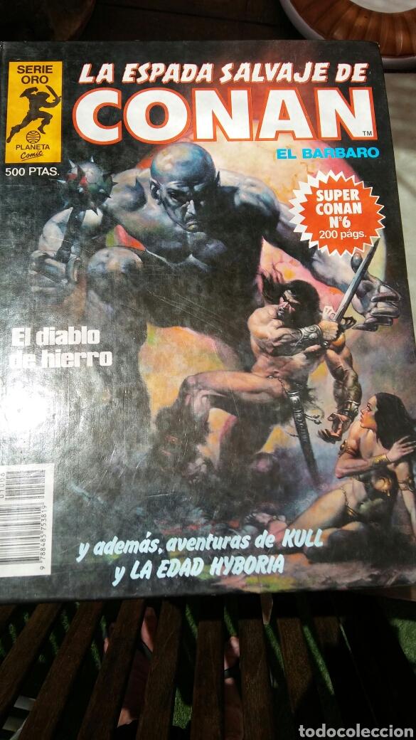 Cómics: 16 tomos la espada salvaje de Conan el bárbaro serie oro planeta 1 ediccion coleccion completa - Foto 12 - 174965828