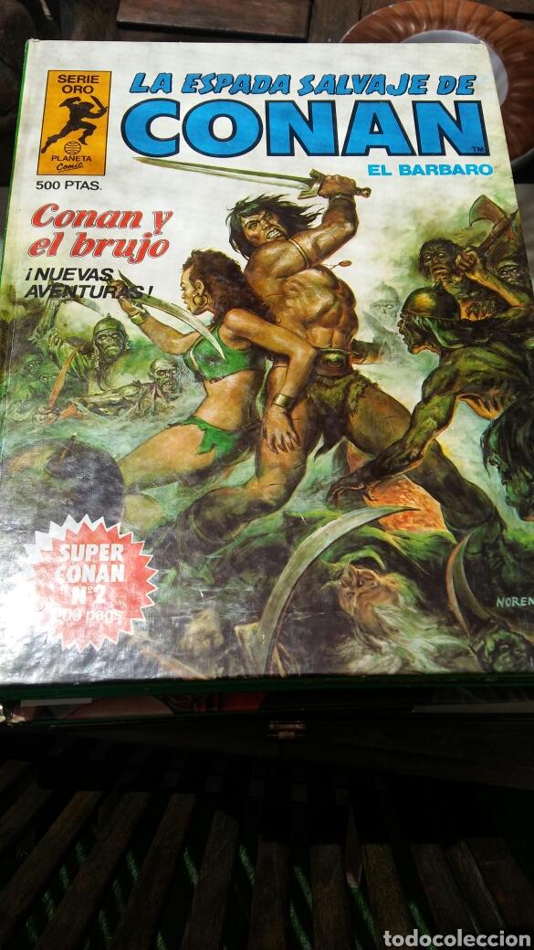 Cómics: 16 tomos la espada salvaje de Conan el bárbaro serie oro planeta 1 ediccion coleccion completa - Foto 16 - 174965828