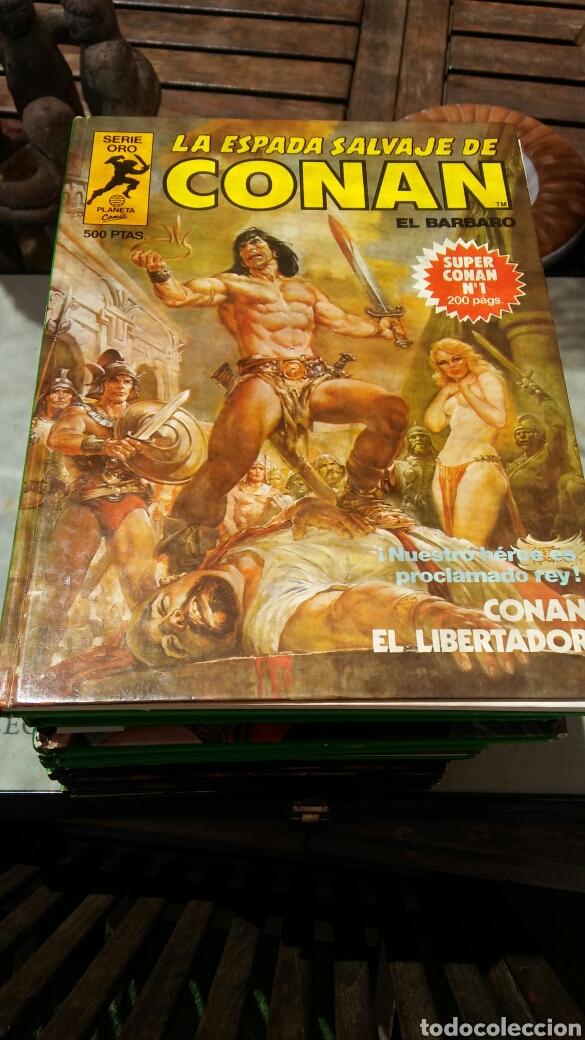 Cómics: 16 tomos la espada salvaje de Conan el bárbaro serie oro planeta 1 ediccion coleccion completa - Foto 17 - 174965828