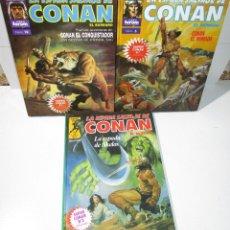 Cómics: 3 TOMOS LA ESPADA SALVAJE DE CONAN SUPER CONAN, Nº 3-5-10, FORUM. Lote 165850784