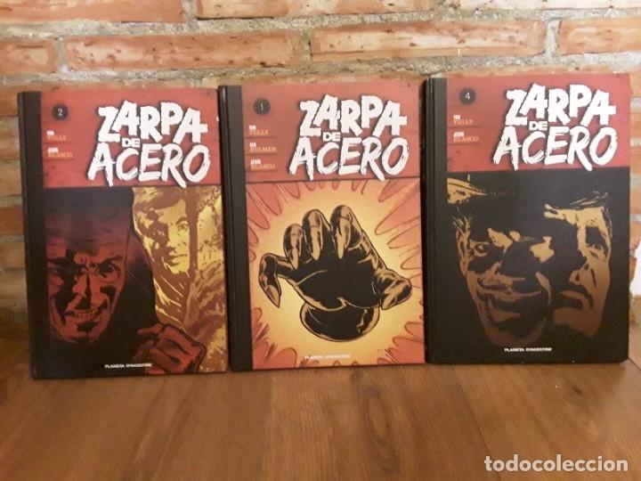 3 TOMOS ZARPA DE ACERO 4 , 2 Y 1 DIFÍCILES Y DESCATALOGADOS (Tebeos y Comics - Planeta)