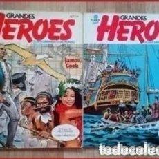Cómics: GRANDES HEROES. EL DESCUBRIMIENTO DEL MUNDO. 2 NÚMEROS DE COMIC PLANETA . Lote 177284398