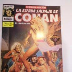 Cómics: LA ESPADA SALVAJE DE CONAN EL BARBARO - NUM 81 - SEGUNDA EDICION. Lote 178353533