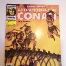 Cómics: LA ESPADA SALVAJE DE CONAN EL BARBARO - NUM 66 - SEGUNDA EDICION. Lote 178353691