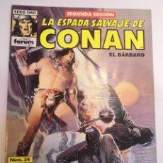 Cómics: LA ESPADA SALVAJE DE CONAN EL BARBARO - NUM 54 - SEGUNDA EDICION. Lote 178353795