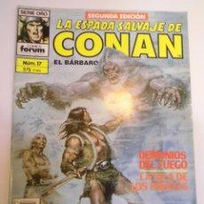 Cómics: LA ESPADA SALVAJE DE CONAN EL BARBARO - NUM 17 - SEGUNDA EDICION. Lote 178354036
