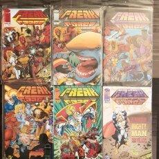 Cómics: FREAK FORCE DE ERIK LARSEN. COLECCION COMPLETA DE 9 COMICS. WORLD COMICS 1995. Lote 179171496
