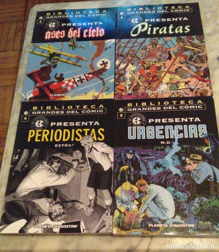 EC PRESENTA NºS 3 4 5 Y 6 - ASES DEL CIELO, PERIODISTAS, URGENCIAS Y PIRATAS (Tebeos y Comics - Planeta)