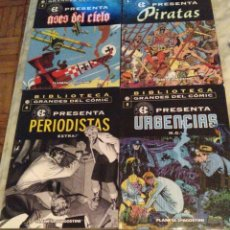 Cómics: EC PRESENTA NºS 3 4 5 Y 6 - ASES DEL CIELO, PERIODISTAS, URGENCIAS Y PIRATAS. Lote 179215976