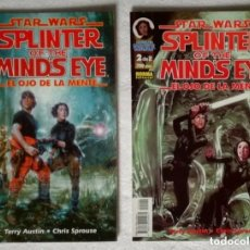 Cómics: COMIC STAR WARS: EL OJO DE LA MENTE - COMPLETA, 2 NUMEROS + CARPETA ARCHIVADOR; NORMA EDITORIAL. Lote 180188163