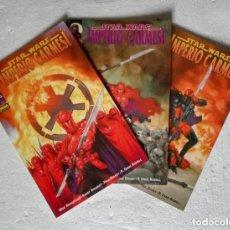 Cómics: COMIC STAR WARS: IMPERIO CARMESI - COMPLETA, 3 NUMEROS; NORMA EDITORIAL. Lote 180189443