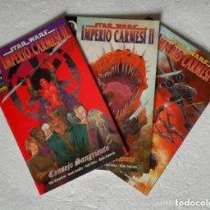 Cómics: COMIC STAR WARS: IMPERIO CARMESI II- COMPLETA, 3 NUMEROS; NORMA EDITORIAL. Lote 180189806