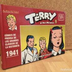 Cómics: TERRY Y LOS PIRATAS 9 - BIBLIOTECA GRANDES DEL COMIC / PLANETA - TAPA DURA - BUEN ESTADO - GCH. Lote 180333726