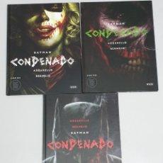 Cómics: BATMAN CONDENADO ¡ COMPLETO 3 TOMOS ! BRIAN AZZARELLO - LEE BERMEJO / DC - ECC. Lote 269206108