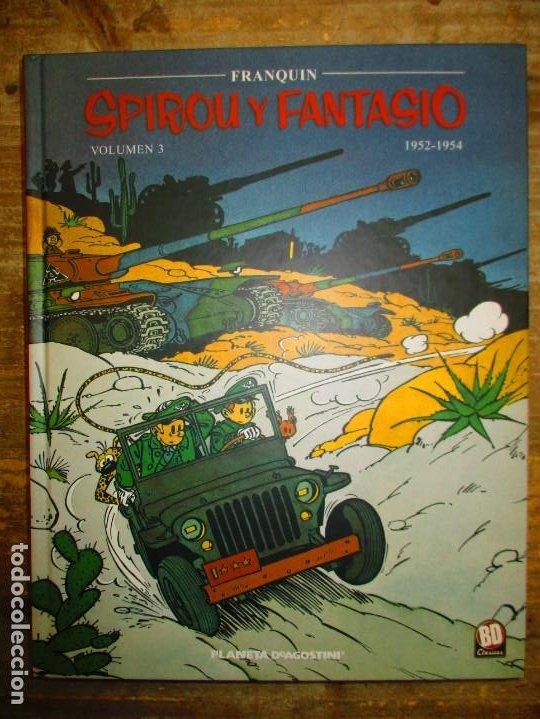 SPIROU Y FANTASIO - VOLUMEN 3 - 1952 / 1954 - FRANQUIN - PLANETA DEAGOSTINI - MUY BUEN ESTADO (Tebeos y Comics - Planeta)