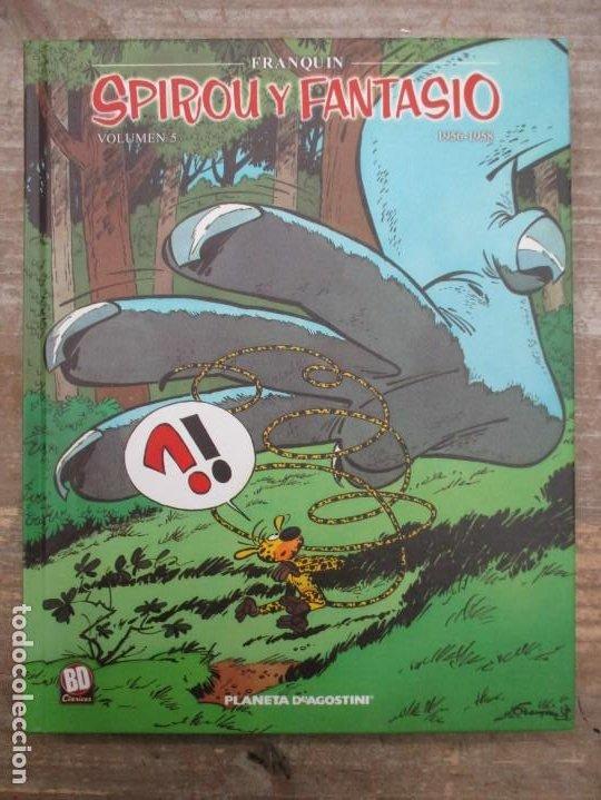 SPIROU Y FANTASIO - VOLUMEN 5 - 1956 / 1958 - FRANQUIN - PLANETA DEAGOSTINI - MUY BUEN ESTADO (Tebeos y Comics - Planeta)