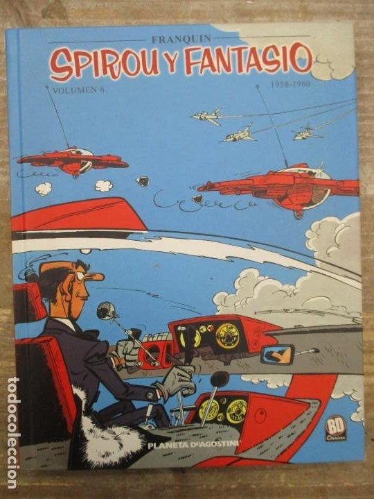 SPIROU Y FANTASIO - VOLUMEN 6 - 1958 / 1960 - FRANQUIN - PLANETA DEAGOSTINI - MUY BUEN ESTADO (Tebeos y Comics - Planeta)