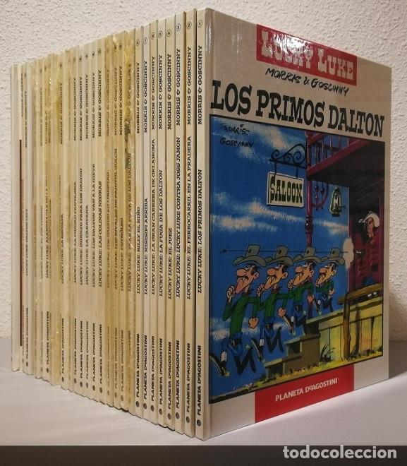 LUCKY LUKE - COLECCION COMPLETA DE 25 TOMOS + LOS 2 TOMOS EXTRAS - PLANETA DEAGOSTINI 2005 VER FOTOS (Tebeos y Comics - Planeta)