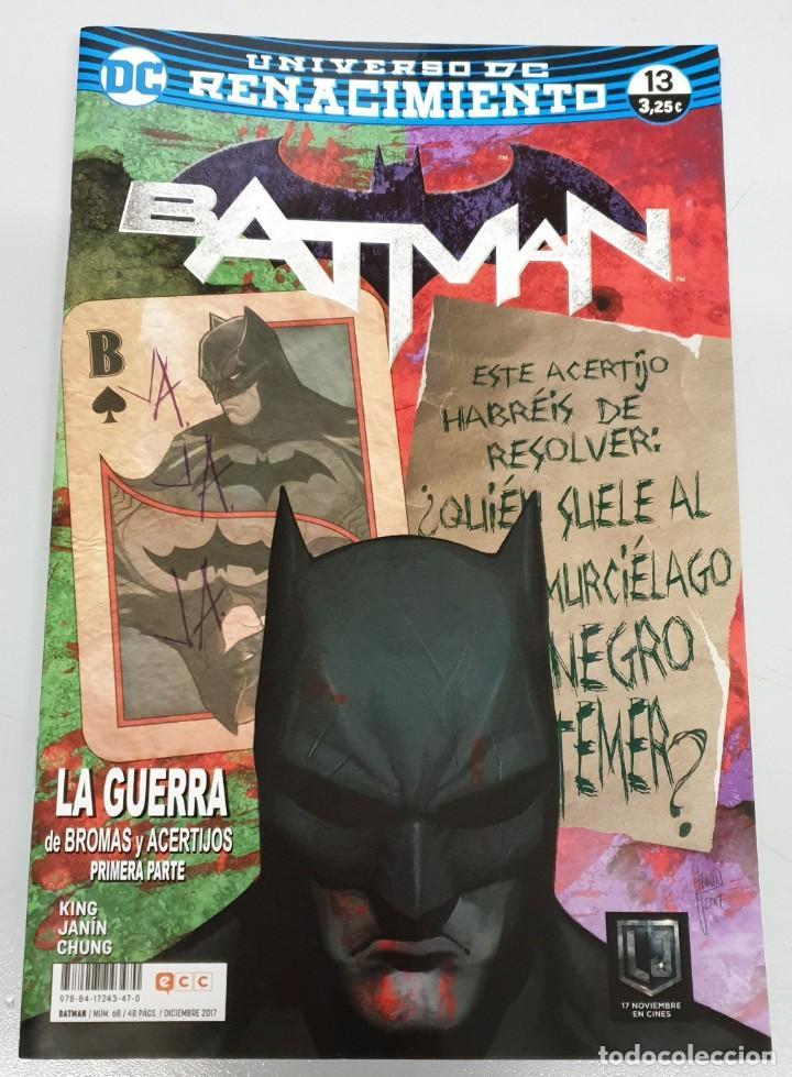 BATMAN Nº 68 / 13 : LA GUERRA DE BROMAS Y ACERTIJOS PRIMERA PARTE - UNIVERSO RENACIMIENTO / DC - ECC (Tebeos y Comics - Planeta)