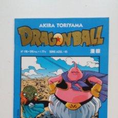 Comics : DRAGONBALL Nº 198 SERIE AZUL 45 AKIRA TORIYAMA. PLANETA DE AGOSTINI. DRAGON BALL. TDKC51. Lote 200078801