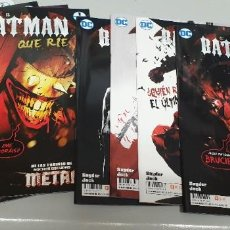 Cómics: EL BATMAN QUE RIE ¡ COMPLETA 8 NUMEROS ! SCOPTT SNYDER - JOCK / DC - ECC. Lote 205300245