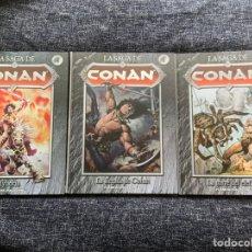 Cómics: LA SAGA DE CONAN - LOTE 3 TOMOS Nº 1, 2, 4, , OFERTA. Lote 205787015