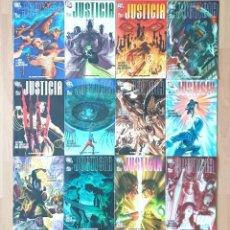 Cómics: JUSTICIA DE ALEX ROSS. COLECCION COMPLETA 12 COMICS 1ª EDICION PLANETA 2007. Lote 213978772