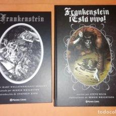 Cómics: BERNI WRIGHTSON. FRANKENSTEIN DE MARY SHELLEY & FRANKENSTEIN ESTA VIVO DE STEVE NILES. PLANETA. Lote 215420756