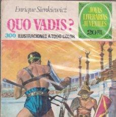 Cómics: CÓMIC JOYAS LITERARIAS JUVENILES Nº 14 DE 20 PTS.ED.BRUGUERA 3ª ED. 1974. Lote 217605411